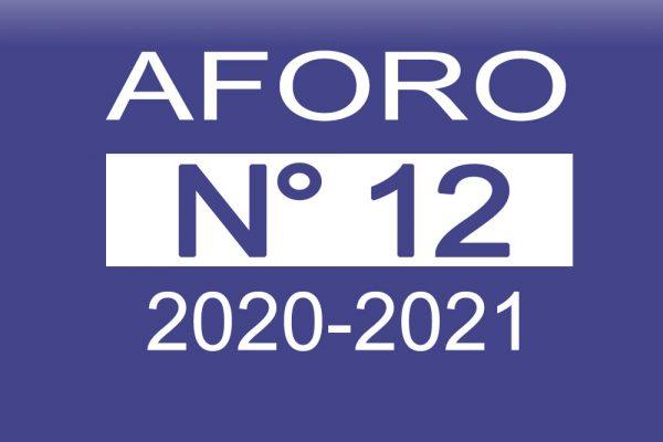 Aforo N° 12 2020-2021