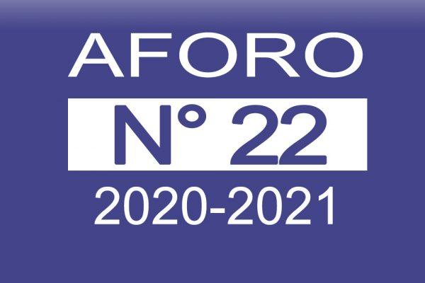 Aforo N° 22 2020-2021