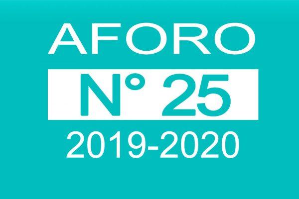 Aforo 25 2019-2020
