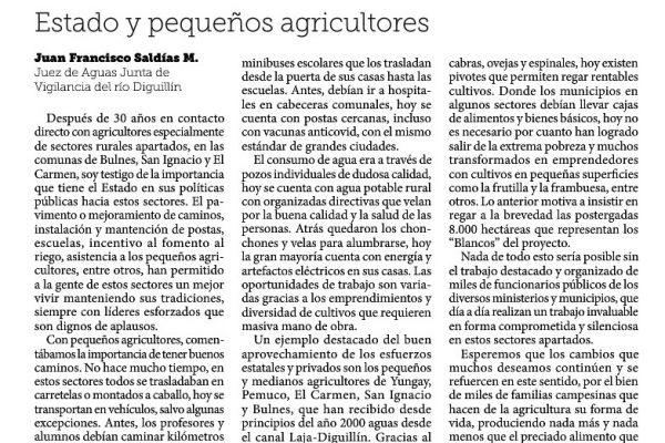 Estado y pequeños agricultores